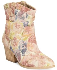 Dolce By Mojo Moxy Taos Floral Western Booties Women's Shoes Sand