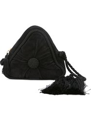 Moschino Vintage Triangle Shaped Clutch Black