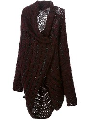 Masnada Knitted Cardigan Red