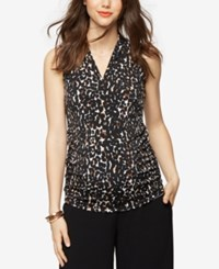 A Pea In The Pod Maternity Ruched Tank Top Leopard Print