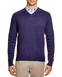 The Men's Store At Bloomingdale's Cashmere V Neck Sweater Blueberry