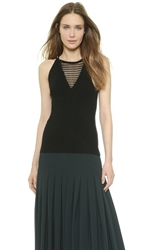 Yigal Azrouel Knit Top Jet