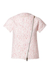 Giambattista Valli Short Sleeve Boucle Jacket Pink
