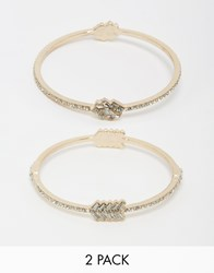 Oasis Crystal Stone Multipack Bangles