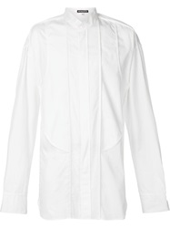 Ann Demeulemeester Grise Boxy Long Shirt White