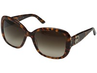 Versace Ve4278b Havana Animalier Brown Brown Gradient Fashion Sunglasses Animal Print