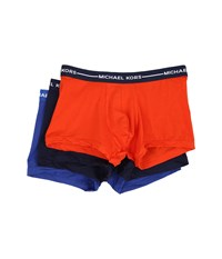 Michael Kors Ultimate Cotton Stretch Trunk 3 Pack Spice Men's Underwear Red