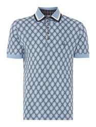 Vivienne Westwood Regular Fit Short Sleeve Check Polo Shirt Navy