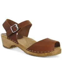 Mia Anja Wooden Platform Sandals Women's Shoes Luggage