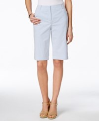 Charter Club Seersucker Bermuda Shorts Only At Macy's Blue White