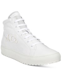 John Galliano Men's Gig A High Tops Men's Shoes White
