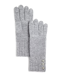 Michael Kors Waffle Stitch Gloves 100 Bloomingdale's Exclusive Pearl Heather Gray