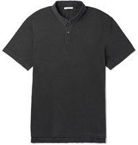 James Perse Slim Fit Supima Cotton Polo Shirt Gray