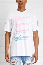 Forever 21 Defyant Cursive Logo Tee