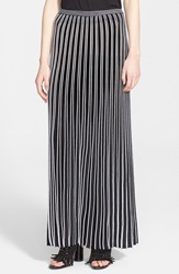 Proenza Schouler Accordion Pleat Maxi Skirt Black White