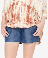 Motherhood Maternity Chambray Shorts Light Wash