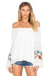 Vava By Joy Han Meruvina Off Shoulder Top White