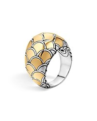John Hardy Naga 18K Yellow Gold And Sterling Silver Dome Ring