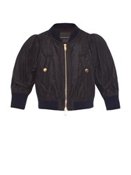 Undercover Cropped Silk Bomber Jacket