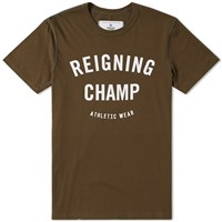 Reigning Champ Gym Logo Tee Green