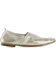 Rocco P. Perforated Metallic Slippers