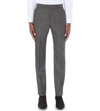 Reiss Morrow Slim Fit Wool Trousers Charcoal