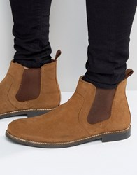 Red Tape Chelsea Boots In Tan Suede Tan