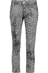 Mcq By Alexander Mcqueen Printed Jacquard Mid Rise Straight Leg Jeans