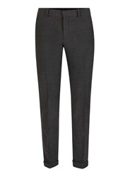 Selected Homme Grey Textured Suit Trousers