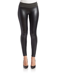 Kensie Pleather Leggings Dark Heather Grey