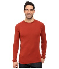 Smartwool Nts Mid 250 Crew Top Moab Rust Heather Men's Long Sleeve Pullover Red