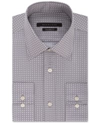 Sean John Men's Grey Triangle Print Dress Shirt