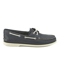 Sperry Men's A O 2 Eye Leather Boat Shoes Navy