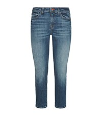 J Brand Sadey Slim Leg Straight Jeans Female Blue