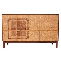 Iannone Design Cork Plaid Mosaic Sideboard