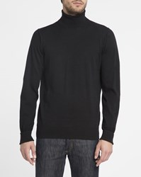 Ben Sherman Black Cotton Polo Neck Sweater