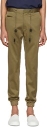 Marc Jacobs Green Cotton Drawstring Trousers