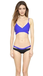 L Space Sweet And Chic Chloe Wrap Bikini Top Royal