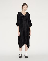 Comme Des Garcons Velvet Dress Black Gray