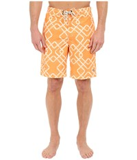 Tommy Bahama Baja Rockford Tiles 9 Inch Swim Trunk Bright Pop Men's Swimwear Orange