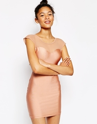 American Apparel Sweetheart Neck Bodycon Dress Shinypeach
