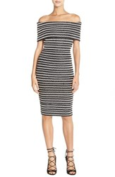 Women's Elliatt 'Sculpture' Chevron Stripe Woven Sheath Dress
