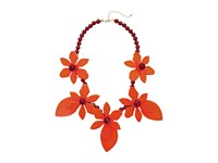 Kate Spade Lovely Lillies Statement Necklace Coral Multi