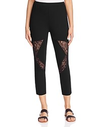 Finity Lace Inset Leggings Black
