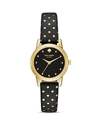Kate Spade New York Round Polka Dot Metro Watch 25Mm Black