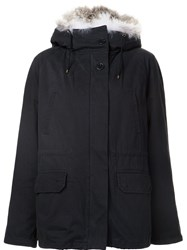 Army Yves Salomon Fur Trimmed Parka Blue