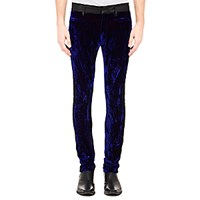 Haider Ackermann Men's Varukers Skinny Trousers Black Navy Purple Black Navy Purple