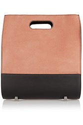 Alexander Wang Chastity Suede And Leather Tote Nude