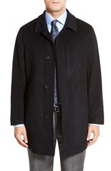 Men's Big And Tall Hart Schaffner Marx 'Douglas' Classic Fit Wool And Cashmere Overcoat Black