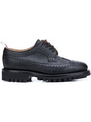 Thom Browne Textured Brogues Black